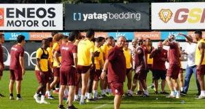 Galatasaray'da neşeli antrenman