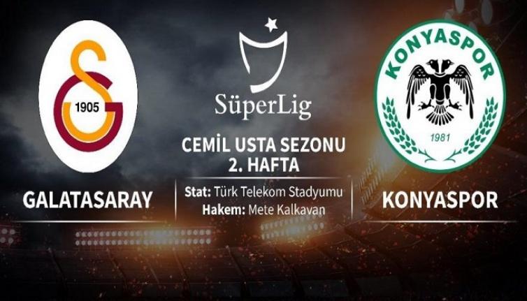Galatasaray 0-0 Konyaspor (İlk yarı sona erdi)