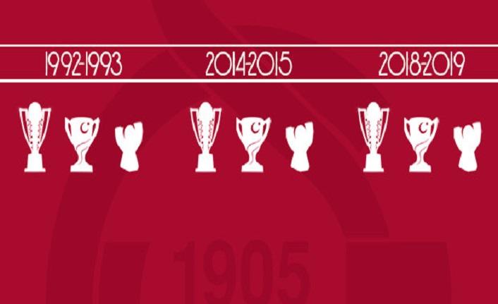 Galatasaray'dan üçüncü kez üçleme