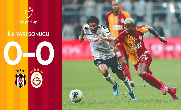 İlk yarı sonucu: Beşiktaş 0-0 Galatasaray