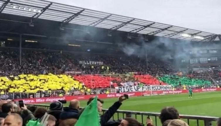 St. Pauli'den terör örgütünü destekleyen koreografi