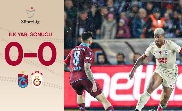 İlk yarı sonucu: Trabzonspor 0-0 Galatasaray