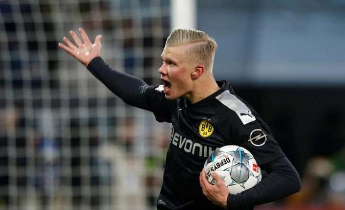 Dortmund'da Haaland çılgınlığı! Hat-trick yaptı...