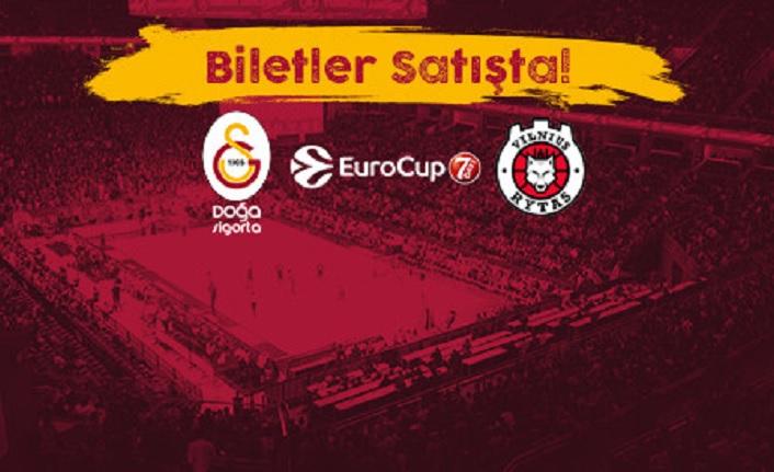 Sinan Erdem'de omuz omuza koşalım zaferlere! Galatasaray Doğa Sigorta Rytas Vilnius maçı biletleri satışta!