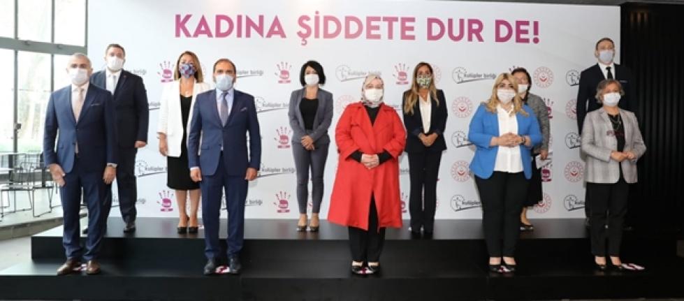 """""""Kadına Şiddete Dur De"""" projesinin basın toplantısı gerçekleştirildi"""