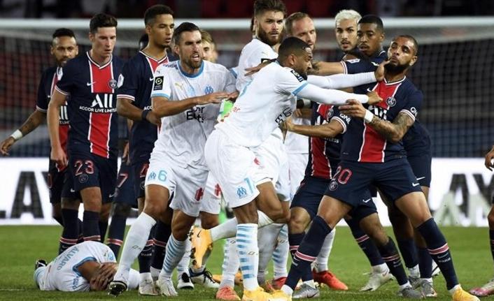 Fransa'da olaylı derbi: PSG - Marsilya