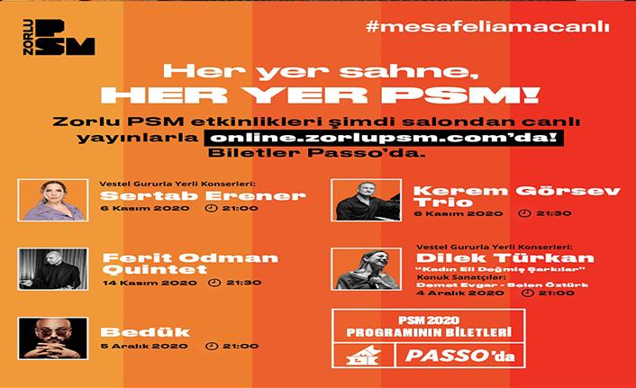 Zorlu PSM dijital platformda da perdelerini açtı