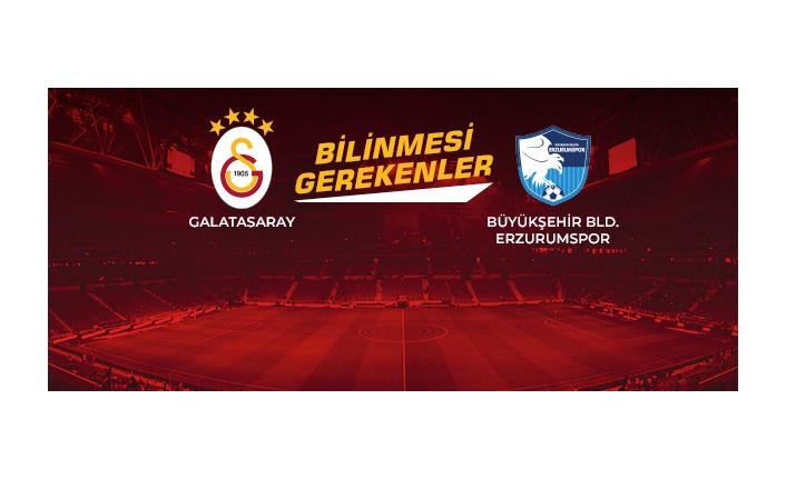 Bilinmesi Gerekenler  Galatasaray - Büyükşehir Belediye Erzurumspor