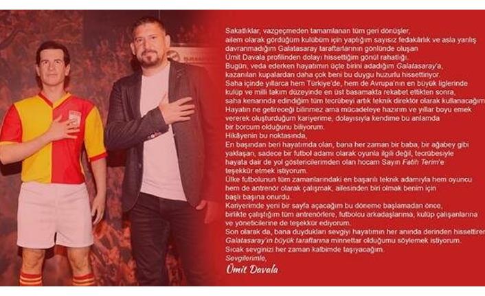Ümit Davala'dan Galatasaray'a veda
