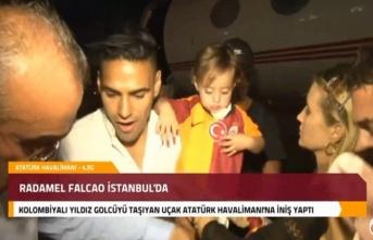 Radamel Falcao, İstanbul'a geldi