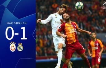 Maç sonucu: Galatasaray 0 - 1 Real Madrid