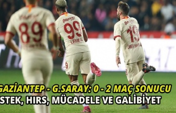 Sistem değişti, Galatasaray şahlandı! Gaziantep-Galatasaray:0-2