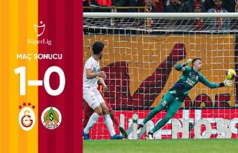 Maç sonucu: Galatasaray 1-0 Aytemiz Alanyaspor