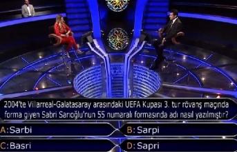 Sabri Sarıoğlu sorusu yarışmaya damga vurdu!