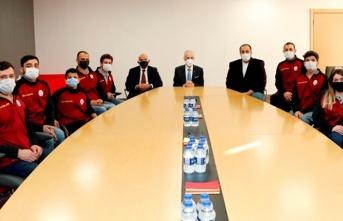 Başkan Mustafa Cengiz, Engelsiz Aslanlar ile bir...