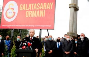 Galatasaray Hatıra Ormanı'nın açılış töreni...
