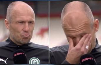Arjen Robben, gözyaşlarını tutamadı!